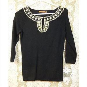 Belldini Womens Black Pullover Blouse Size M